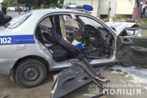 На Харківщині поліцейське авто потрапило у ДТП, шестеро постраждалих