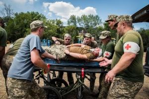 В зоне ООС состоялись учения военных медиков