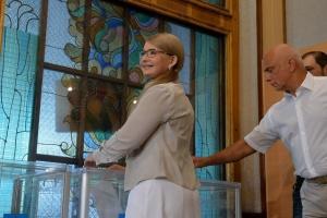 Тимошенко проголосувала у Києві
