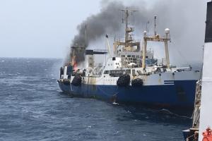 Украинский траулер все ещё горит у берегов Мавритании, моторист погиб - СМИ