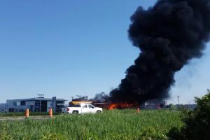 У Канаді два автобуси з дітьми потрапили в аварію і загорілися