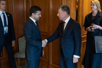 President Zelensky meets with U.S. Special Representative Kurt Volker in Canada