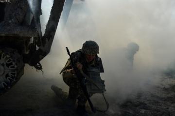Invaders shell Ukrainian positions near Troitske. No casualties reported