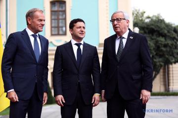 Gipfel Ukraine-EU beginnt in Kyjiw - Fotos