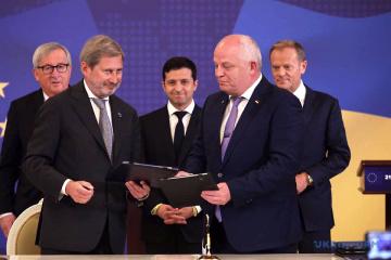 Ukraine und EU unterzeichnen fünf Hilfsabkommen