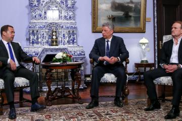 Moskau: Oppositionspolitiker treffen sich in mit Regierungschef Russlands Medwedew