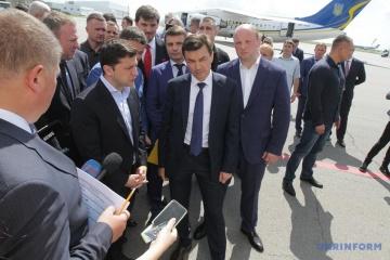 Zelensky llega a Dnipro (Fotos)