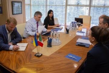 Avakov trata el 'caso Markiv' con el embajador italiano (Fotos)