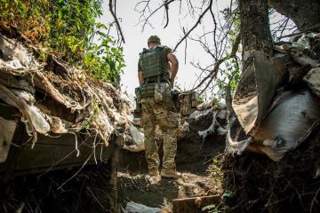 Najeźdźcy 15 razy ostrzelali pozycje ukraińskiej armii