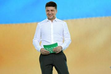 Zełenski i jego żona głosowali w Obołoni WIDEO
