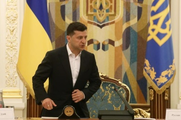 Präsident Selenskyj trifft sich mit zukünftigen Parlamentsmitgliedern