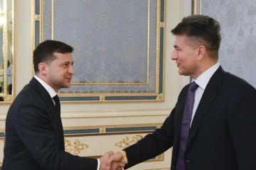 El presidente ucraniano se reúne con el inversor mexicano (Fotos)