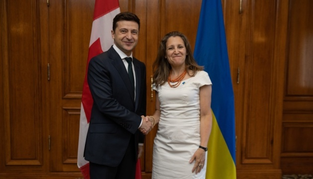 Zelensky at meeting with Freeland confirms Ukraine's course towards EU and NATO