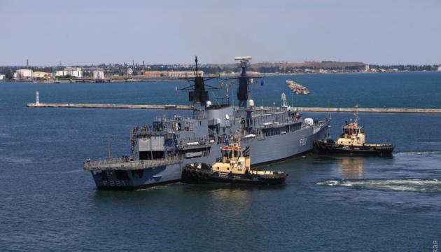 オデーサ港にNATO諸国のフリゲート・駆逐艦が到着