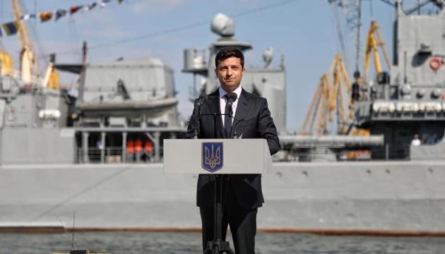 Зеленський привітав військових моряків і сказав, якими бачить ВМС України