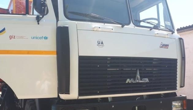 ЮНИСЕФ передала Донецкой области МАЗы для ремонта водоводов