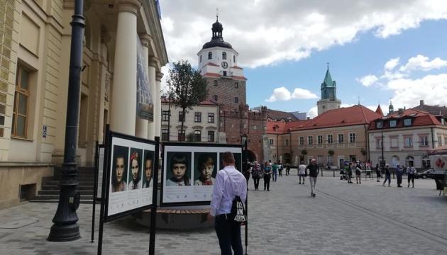 У Любліні проходить вулична фотовиставка про дітей загиблих українських воїнів
