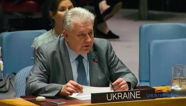 Ельченко рассказал на Совбезе ООН о поддержке Россией терроризма