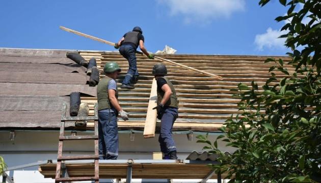 На Донеччині за рахунок регіону відновлено 1057 будинків