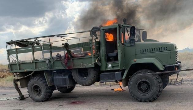 Обстріл військового КрАЗу розслідують як терористичний акт