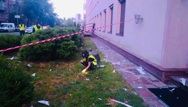 """W Kijowie ostrzelano z granatnika stację telewizyjną """"112 Ukraine""""   ZDJĘCIE"""