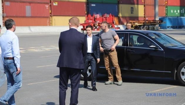 Presidente Zelensky llega a Odesa en una visita de trabajo (Fotos)