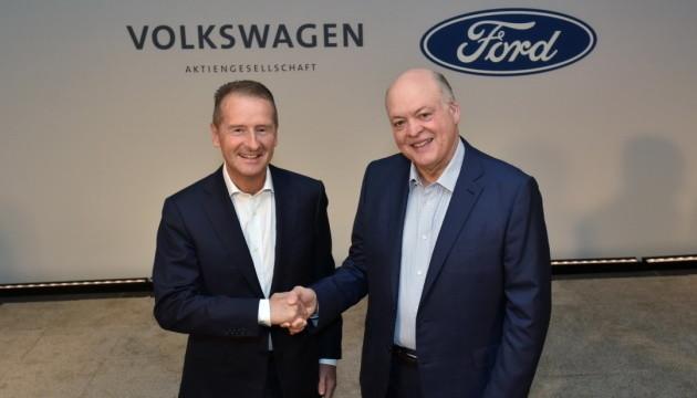 Ford і Volkswagen разом розроблятимуть електрокари і безпілотники