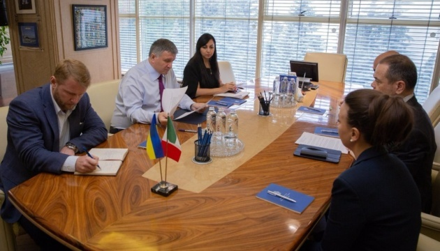 Interior minister Avakov, Italy's ambassador La Cecilia discuss case of National Guard member Markiv