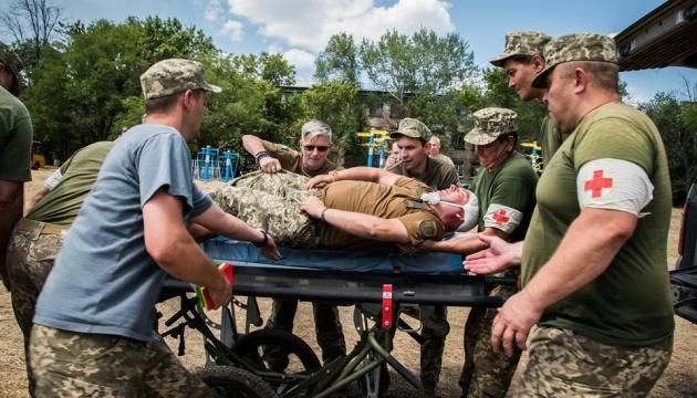 У зоні ООС відбулися навчання військових медиків