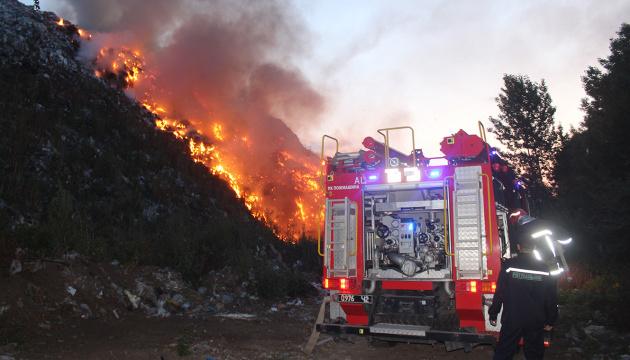 В Хмельницком горела свалка