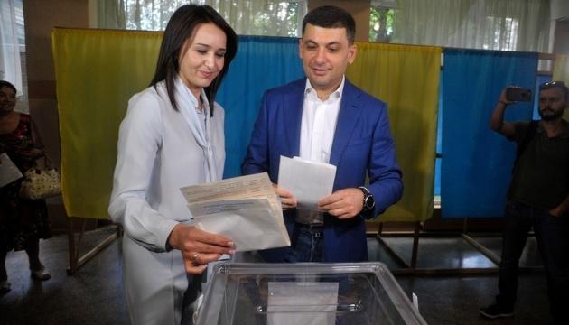 Гройсман проголосовал в Виннице