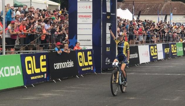 Українка Беломоїна виграла «срібло» чемпіонату Європу з велоспорту