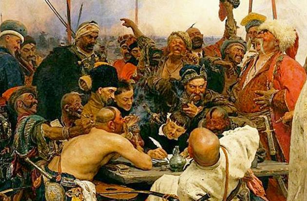 Картина запорожці пишуть листа турецькому султанові, Ілля Репін 1880-1891 рр.