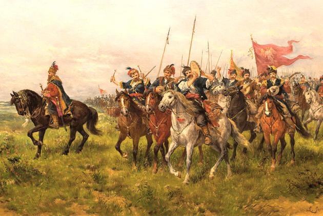 Запорізьке військо в поході, польський художник Йозеф Брандт (Józef Brandt)