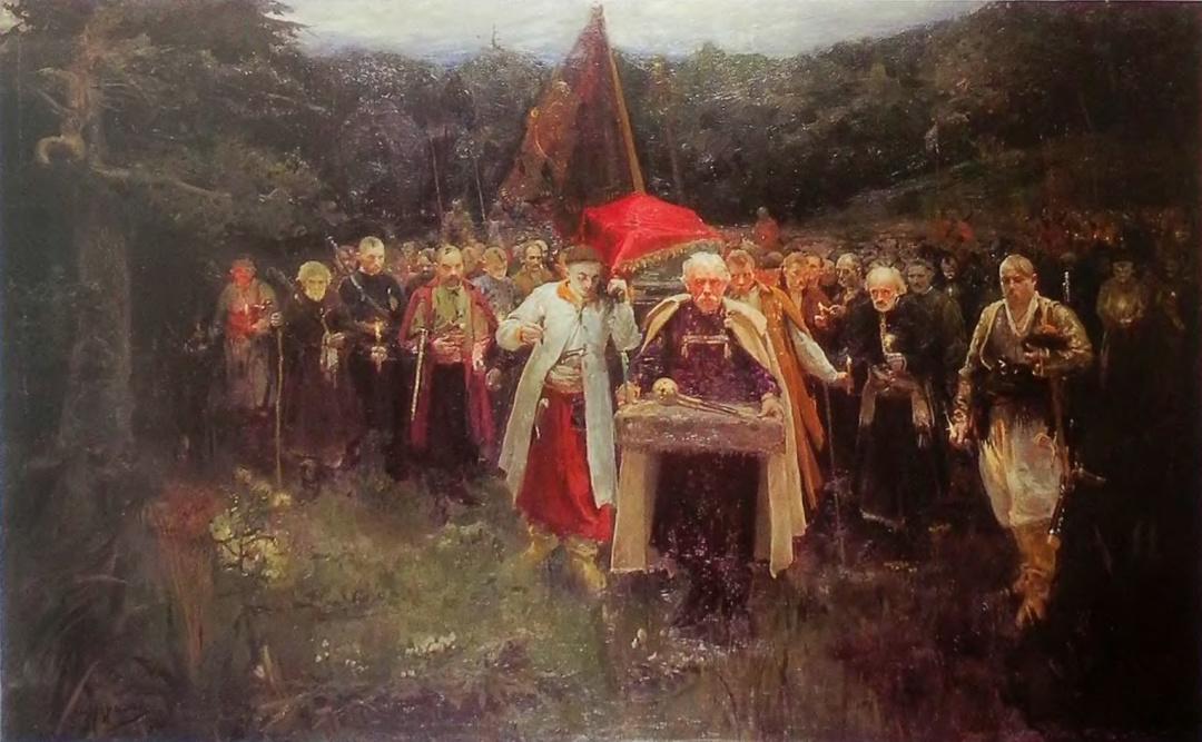 Похорон Кошового, художник Олександр Мурашко, 1900 р.