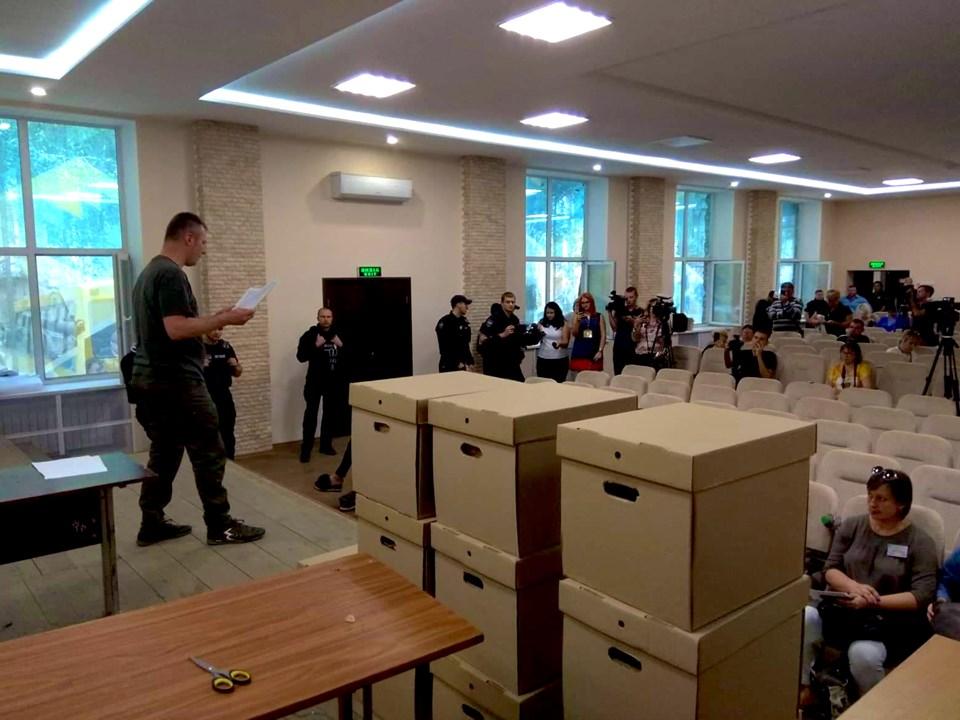 Представники ЦВК склали протокол про передачу документації