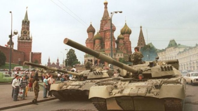 Танки на Красной площади. Август 1991 года