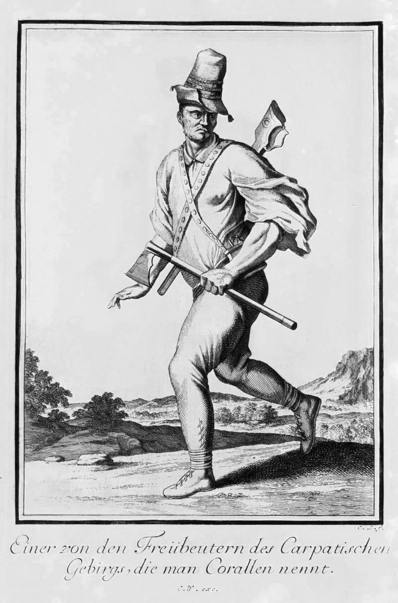 Карпатський смоляк, гравюра, 1703 р.