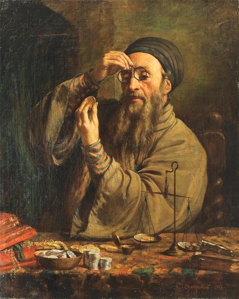 Єврей-лихвар. Картина Огюста Шарпентьє, 1842 р.