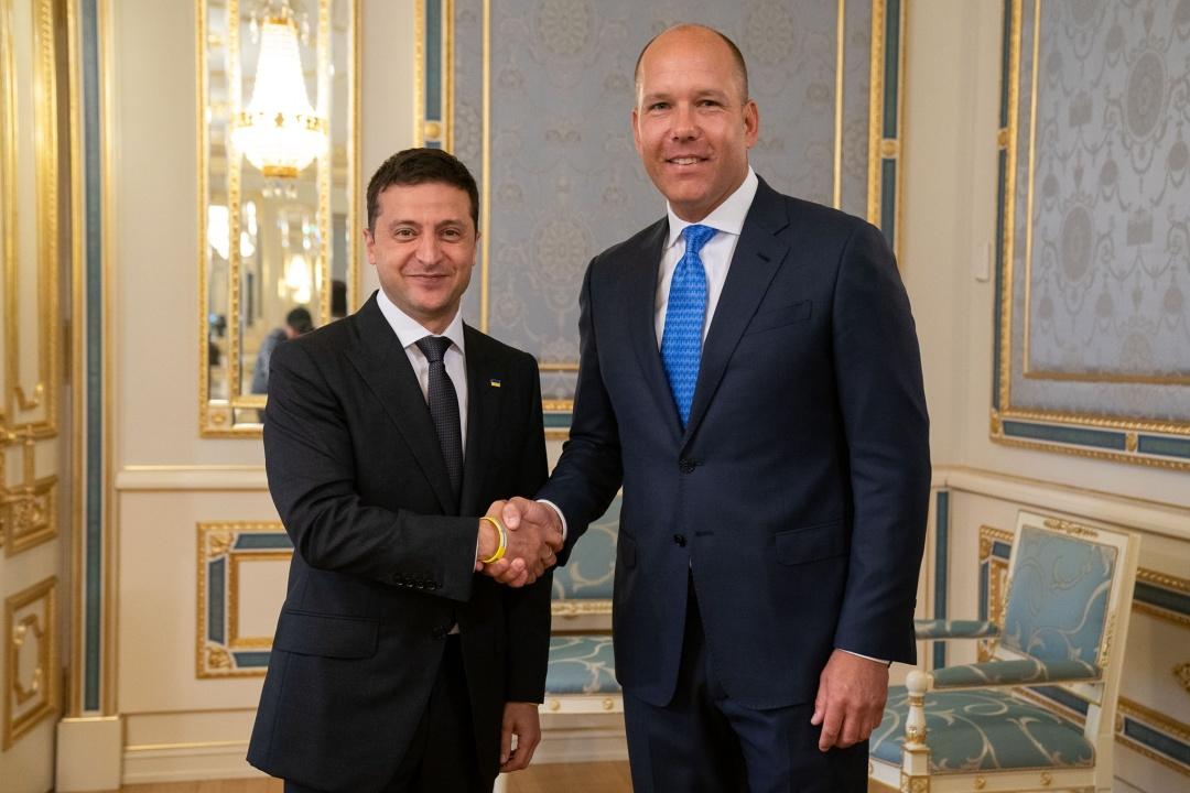 Президнт України Володимир Зеленський та президент СКУ Павло Ґрод