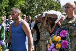На Запорожье провели в последний путь ветерана УПА