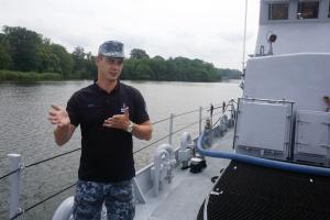 """Дамір Аулін, командир патрульного катера типу Island Р-190 """"Слов'янськ"""""""