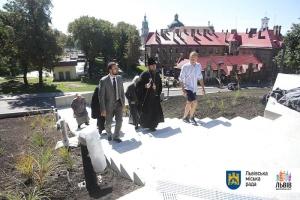 Епіфаній оглянув Меморіал пам'яті Героїв Небесної сотні у Львові