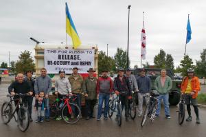 В Едмонтоні відбувся велопробіг проти російської агресії в Україні та Грузії