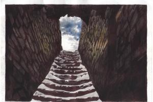 Сущенко надіслав новий малюнок, який передає атмосферу в'язниці РФ