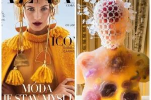 Відома топ-модель з'явилась у чеському Harper's Bazaar у масці від українського дизайнера
