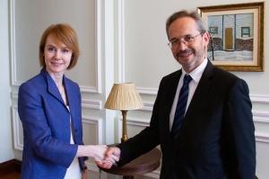 Посол Австрии вручил копии верительных грамот замглавы МИД
