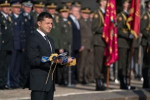 Зеленский присвоил почетные наименования восьми боевым воинским частям