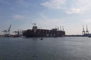 Найбільший у світі контейнеровоз завершив свій перший рейс