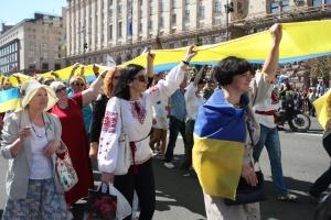 На Марші захисників влаштували флешмоб на підтримку полонених і в'язнів Кремля
